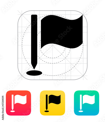 Golf flag icon.