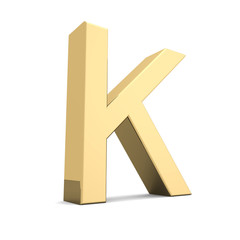 Gold letter K