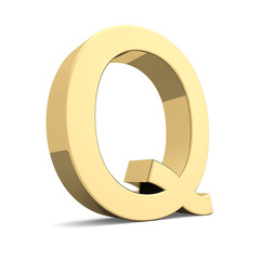 Gold letter Q