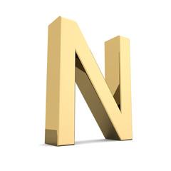 Gold letter N