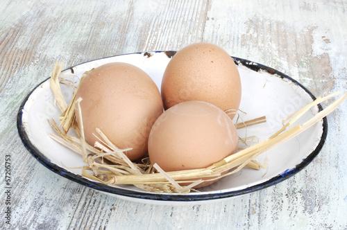 Hühnereier in Retro - Schale