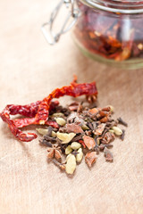 Dried chillies and spices