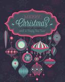 Fototapety Christmas Poster. Vector illustration.