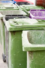 Empty wheelie bins