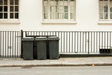 Three wheelie bins