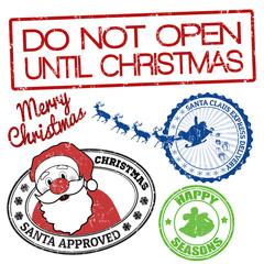 Set of Christmas stamps