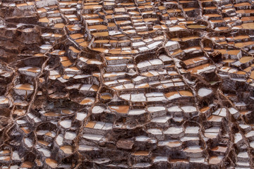 Salt mines at Maras, Sacred Valley, Peru