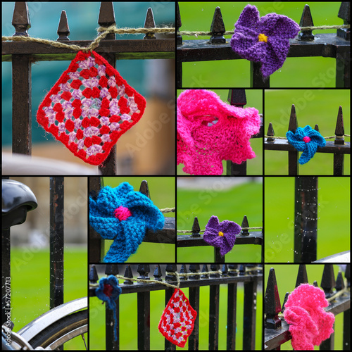 Crochets On Iron Fence Set Collage