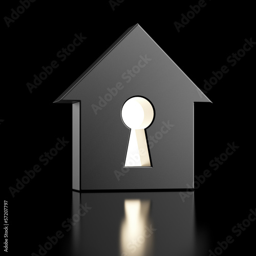 house with keyhole