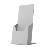 Blank box holder for leaflets