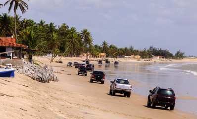 Cars on the beach (Brazil)