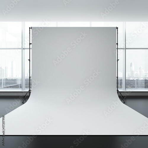 White backdrop in room