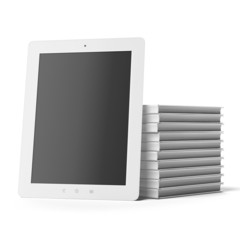 Tablet Computer with  Books