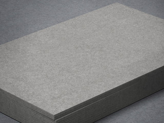 stack of grey business cards