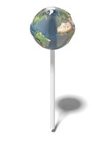 Earth like glossy lollipop