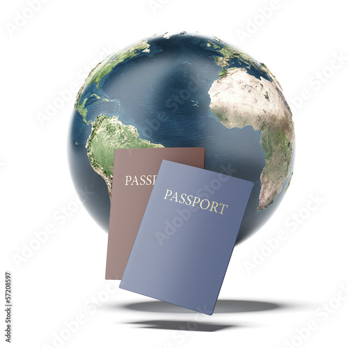 Two passports and earth