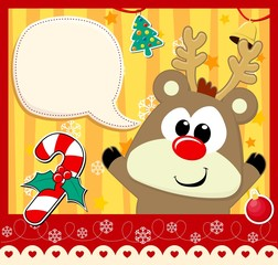 cute baby reindeer christmas card