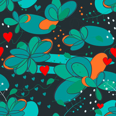crazy seamless floral pattern