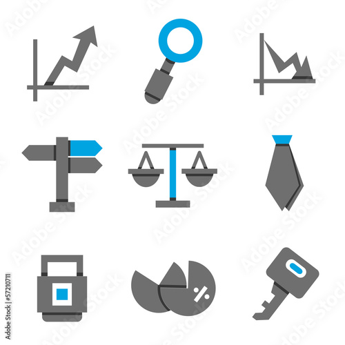 business and finance icon, blue theme