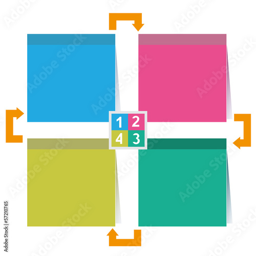 four square diagram for business template