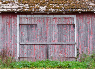 Doors to an old weathered barn