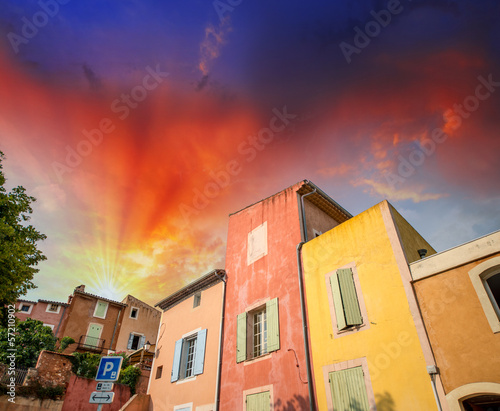 Colourful homes of Roussillon, Provence - France