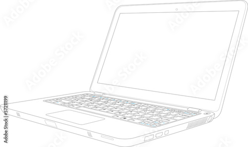 laptop outline