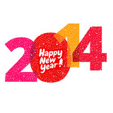 Happy new year greeting card, 2014