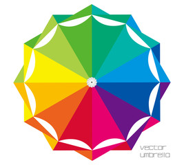 vector umbrella top & in a rainy day