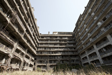 hashima island, The ruin old coal island in Japan called Hashima