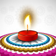 Beautiful Happy diwali colorful rangoli design