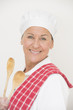 Relaxed portrait female chef