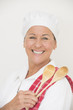 Smiling female cook happy portrait