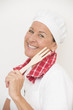 Mature female chef happy portrait