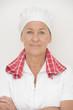 Mature woman cook confident pose