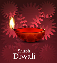 Artistic religious colorful diwali festival background vector