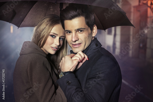 Great portrait of autumn couple