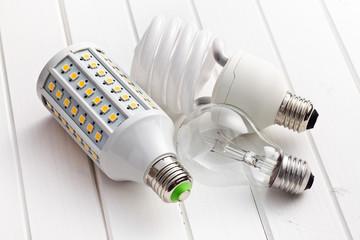 various lighting bulbs