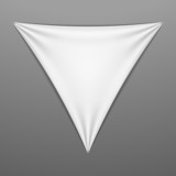 White stretched triangular shape with folds