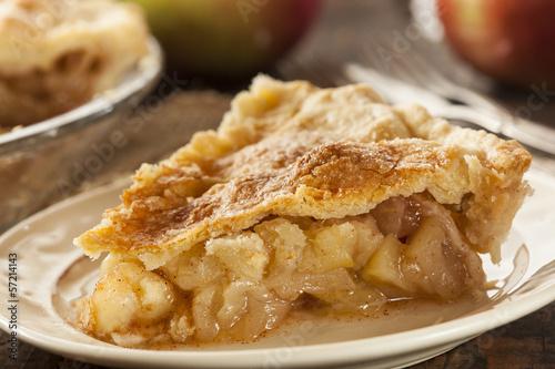 Homemade Organic Apple Pie Dessert - 57214143