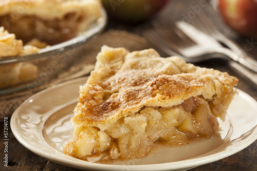 Homemade Organic Apple Pie Dessert - 57214178