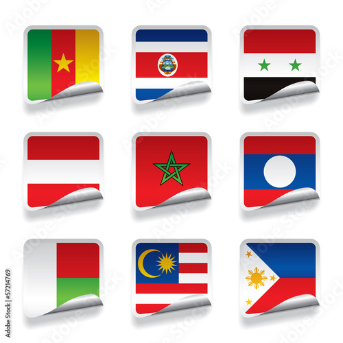 Sticker flags