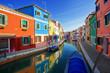 multicolored houses on Burano island. Venice. Italy.