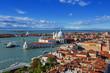 bird's eye view of Venice. Italy.