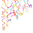 Party Background Streamers Color Mix