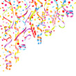 Party Background Streamers & Confetti Color Mix