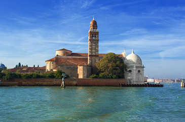 Church of San Michele on the island of the deads. Venice.