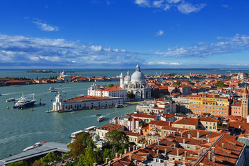 bird's eye view of Venice. Italy.