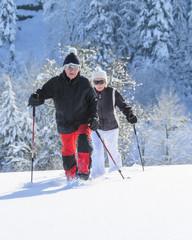 gemeinsam unterwegs im Schnee