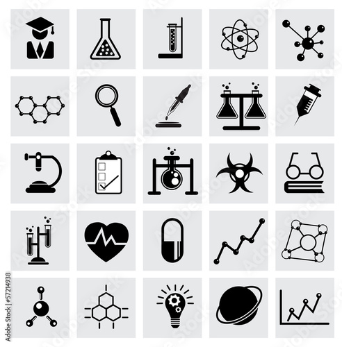 Chemistry and science vector icon